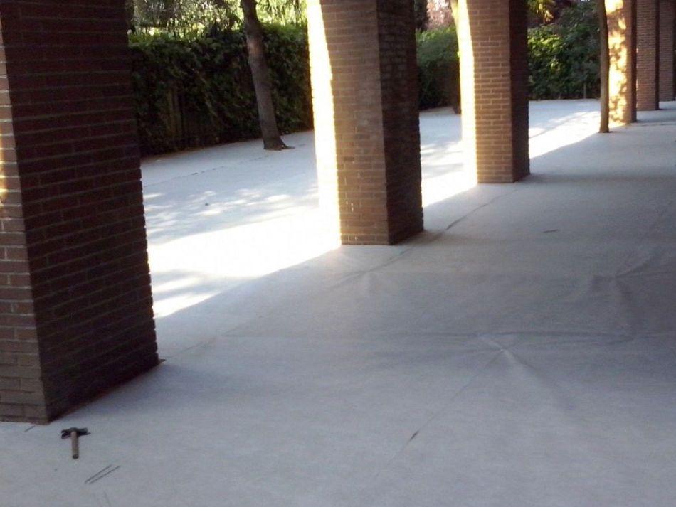 Malla Geotextil para la instalacion de cesped artificial