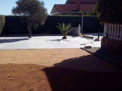 Terreno preparado para instalación de cesped